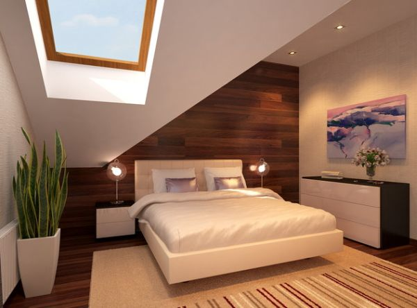 Floating Bed Design Protected by a Sloping Roof