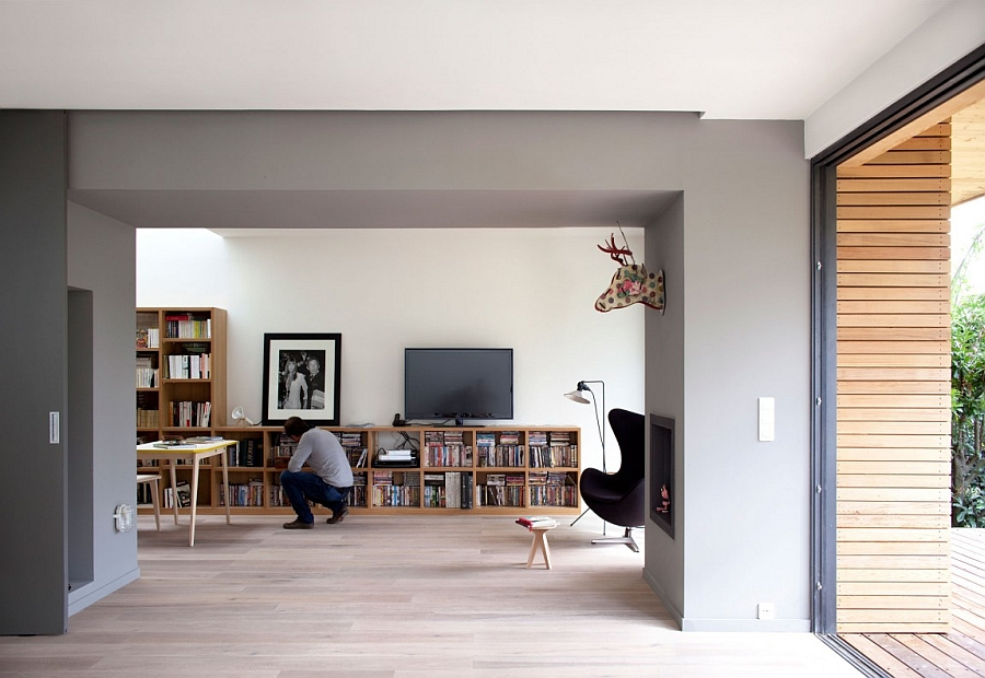 A Large Living Area Shelters A Home Study And Entertainment Needs At The  Same Time
