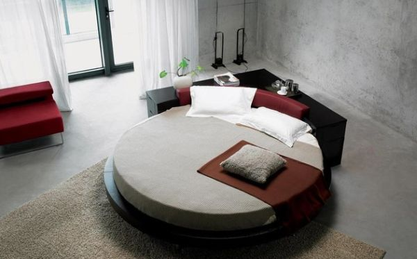 Simple beautiful round bed.