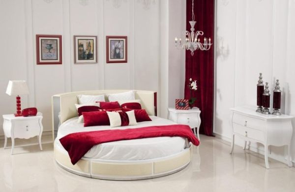 Simple round bed with a touch of classic.