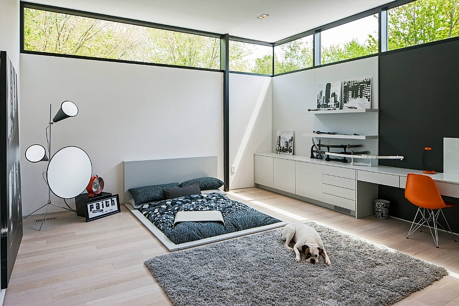 Sunken Bed Design Giving The Room an Ultra Minimal Appeal