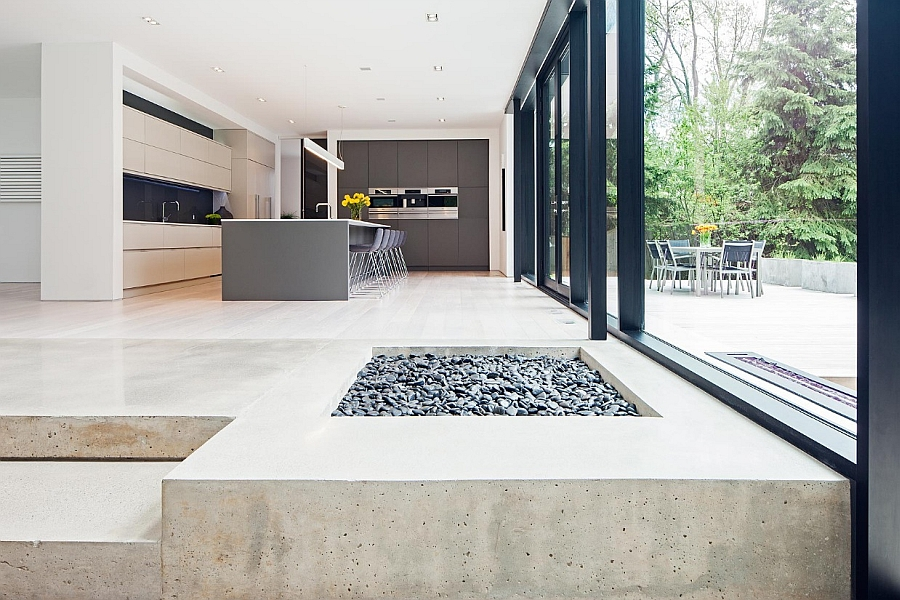 Stylish Visual Contrast Offered by a Collection of Pebbles