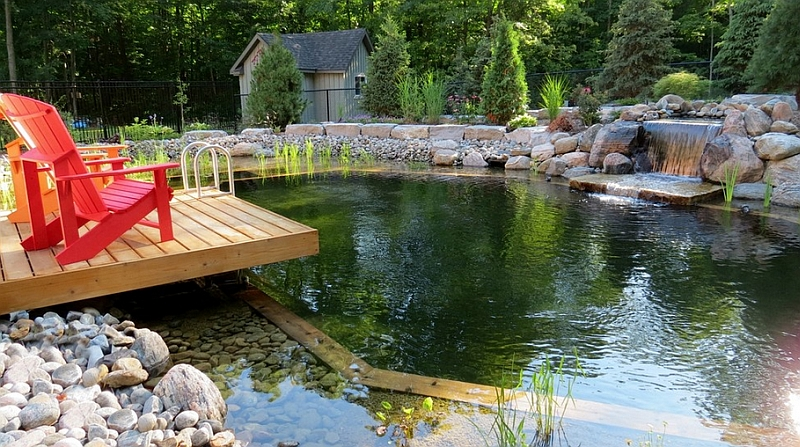 Escape the Rush of Urban Life with a Relaxing Pond