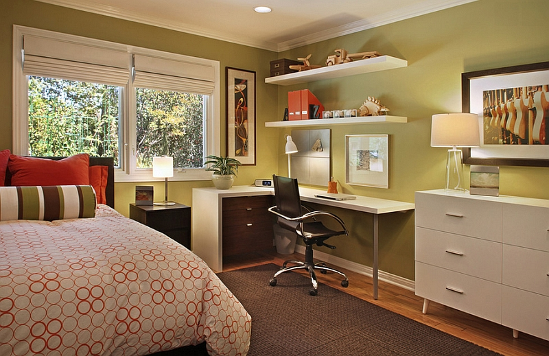 If Needed You Can Turn Your Bedroom Corner Into Your Own Home Office