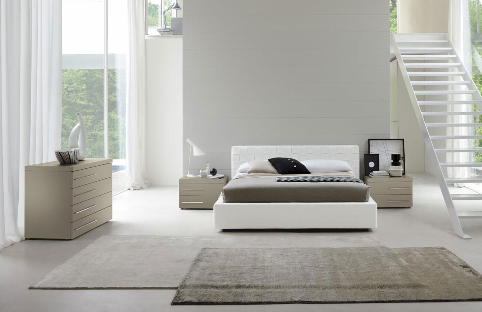 White bedroom design idea modern