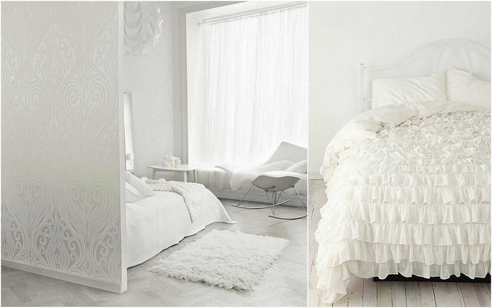 White bedroom design idea girly