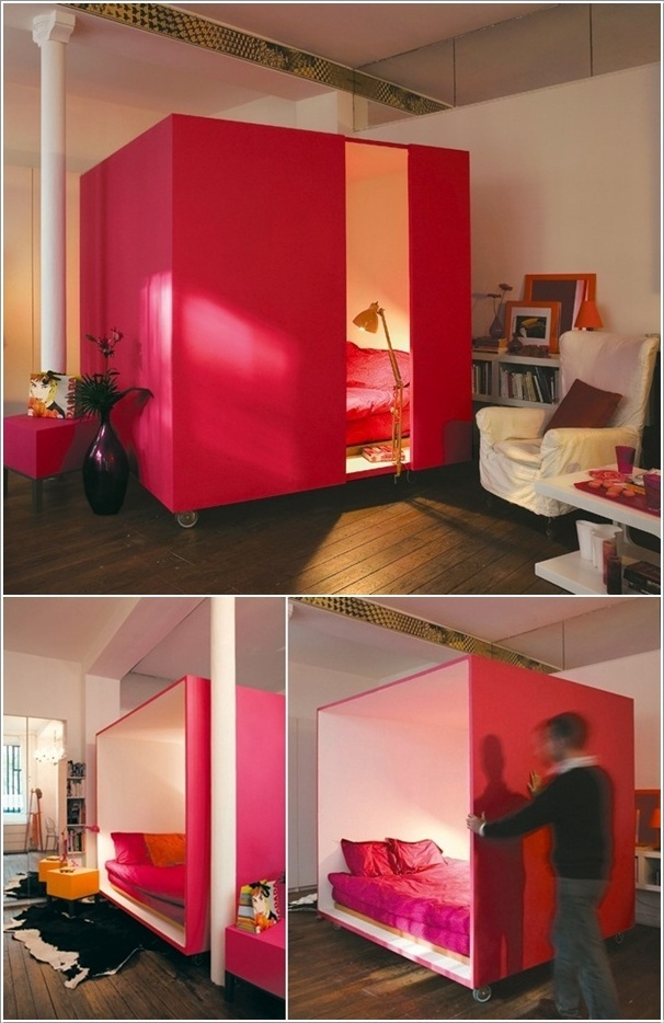 10 creative and ingenious ideas for small space interiors for Creative bed ideas for small spaces