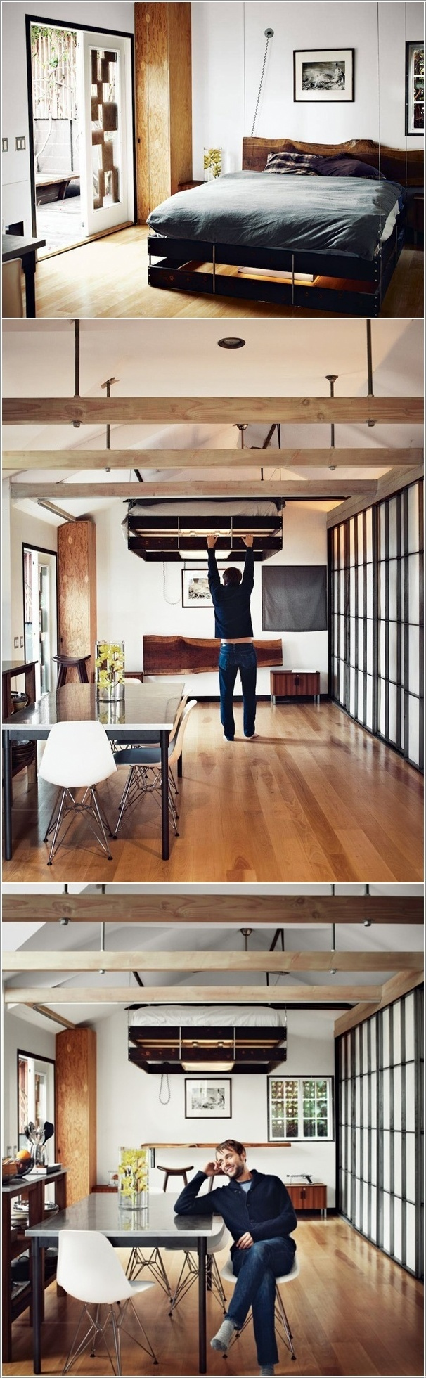 Retractable Bed That Lets You Use the Space It Occupies During the Day