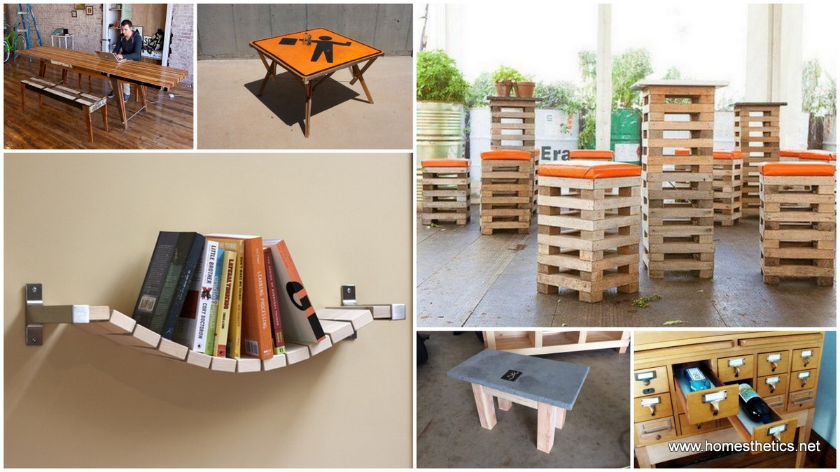 10 useful and creative diy interior furniture ideas for for Unusual home decor ideas