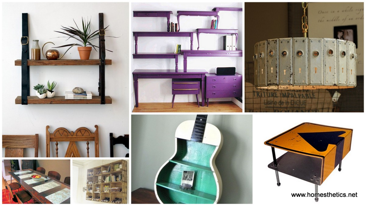 10 diy project ideas that creatively repurpose old objects for Repurposed home decorating ideas