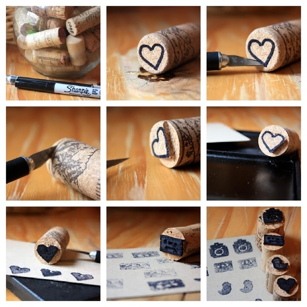 15 easy diy ideas to reuse corks small cork stamps solutioingenieria Gallery