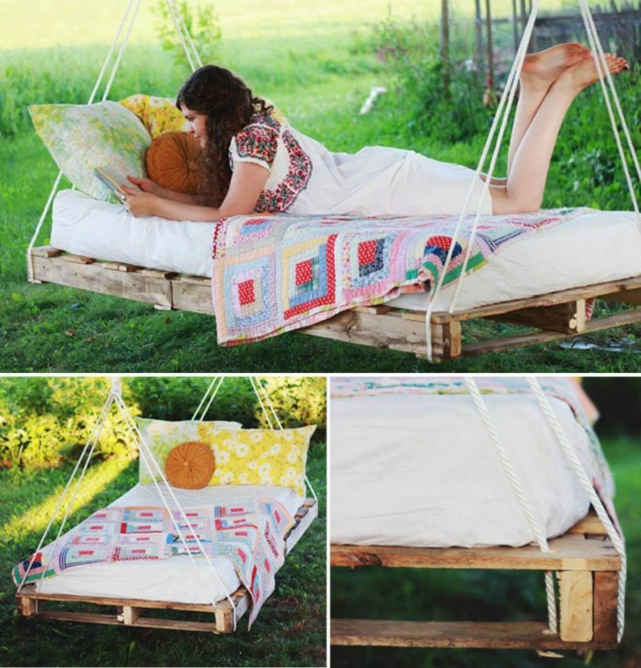 garden swing bed Creative DIY Ideas