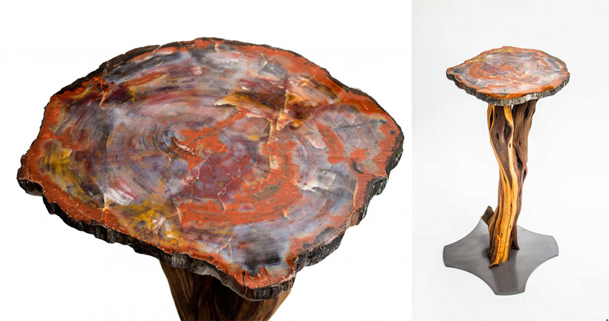 The Petrified Tree Accent Table
