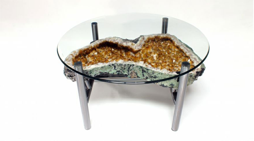 Geode Table -Citrine Version