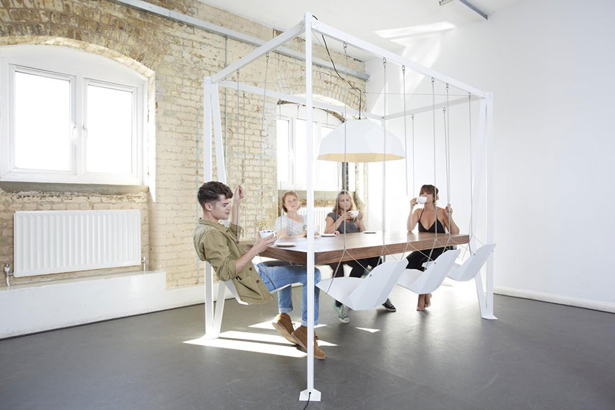 A Table With Swings