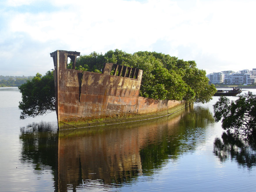 A ship nearly 100 years old in Sydney, Australia