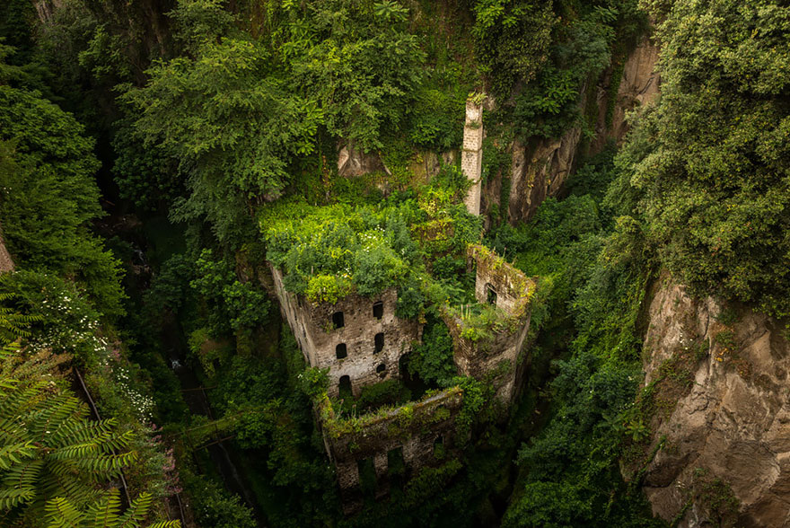 Nature reclaims Old Mill in Sorrento, Italy  nature-reclaiming-abandoned-places-19