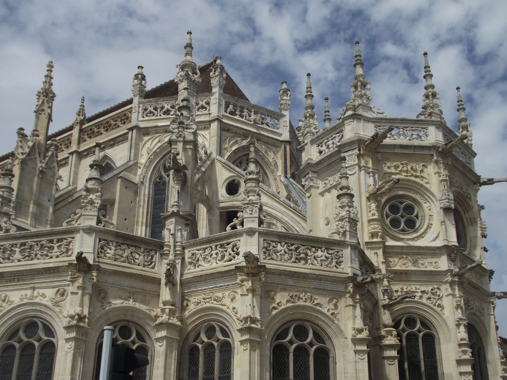 Restored details on the St. Pierre Cathedral exterior.