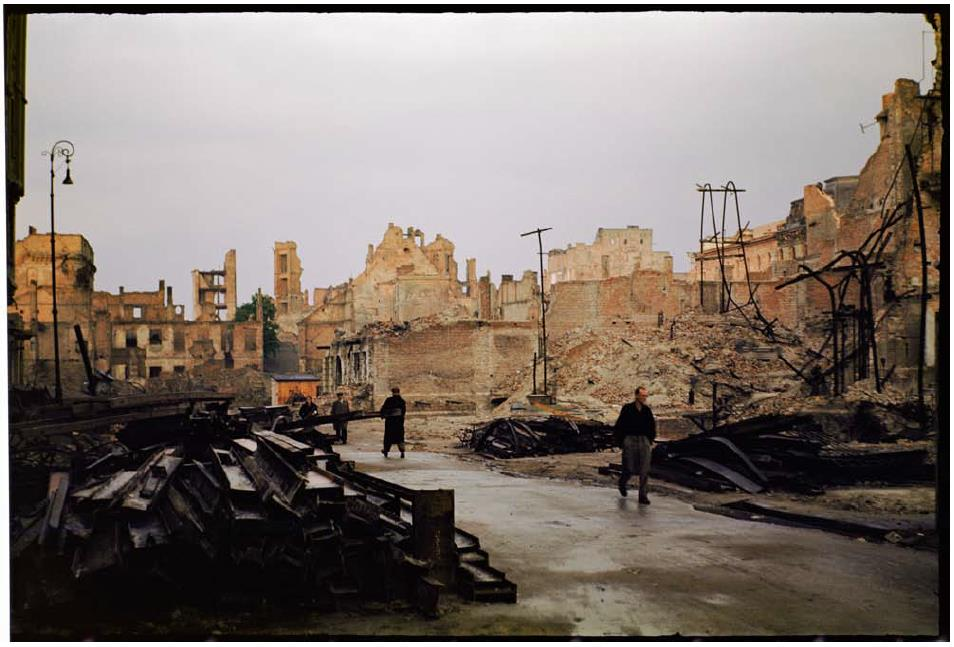 The city was in ruins for long time before the reconstruction efforts managed to bring it back to life.