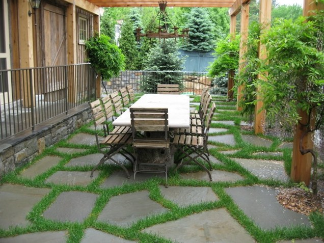 Fancy large rocks pavement in Backyard Landscaping Ideas Patio Design Ideas Homesthetics