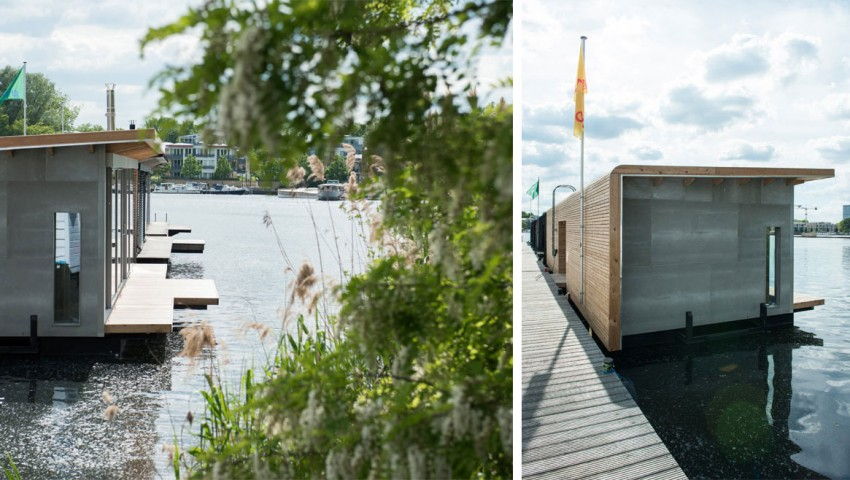 exterior view Boat Homes in Berlin Boasting a Comfortable and Colorful Unique Experience (1)