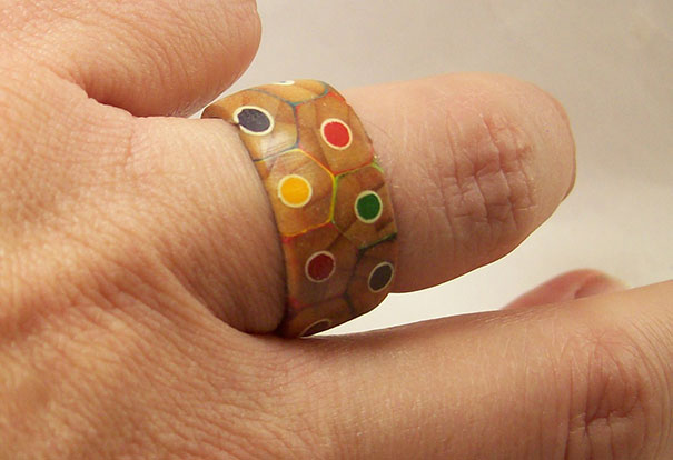 Colorful DIY Ring- How to Turn a Pack Of  Pencils Into a Ring