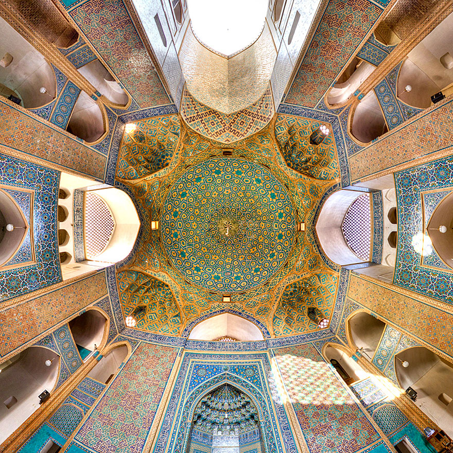 Level of Detail in Iran's Mosques Captured By Mohammad Domiri
