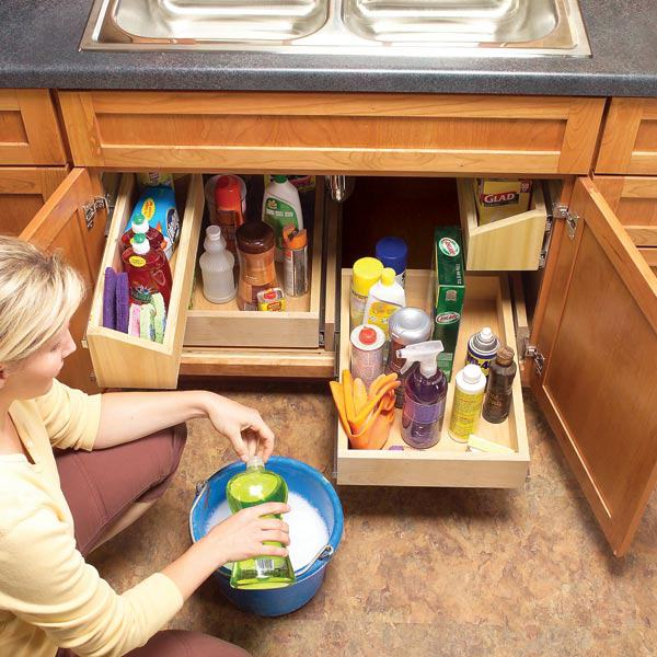 Diy storage ideas how to build kitchen storage under the sink - Lavadero easy ...