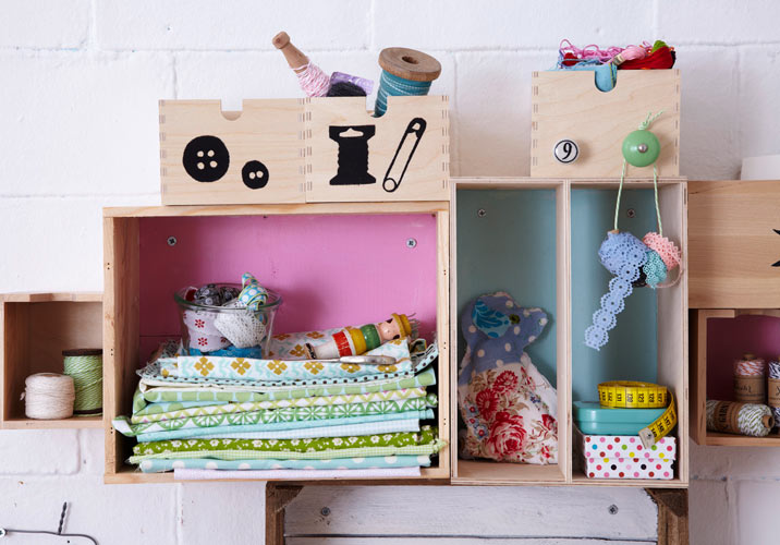 DIY Wall Storage Ideas–Get Creative-3 Simple Shabby Chic Organizing Projects