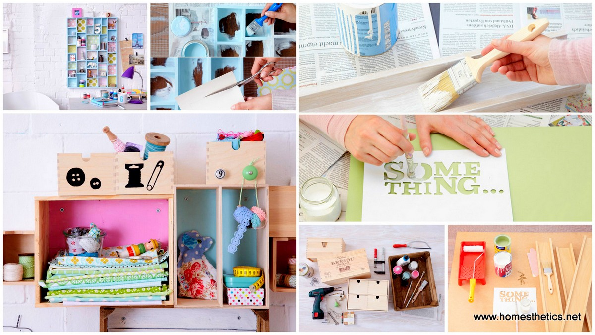 DIY Wall Storage Ideas–Get Creative 3 Simple Shabby Chic Organizing Projects1