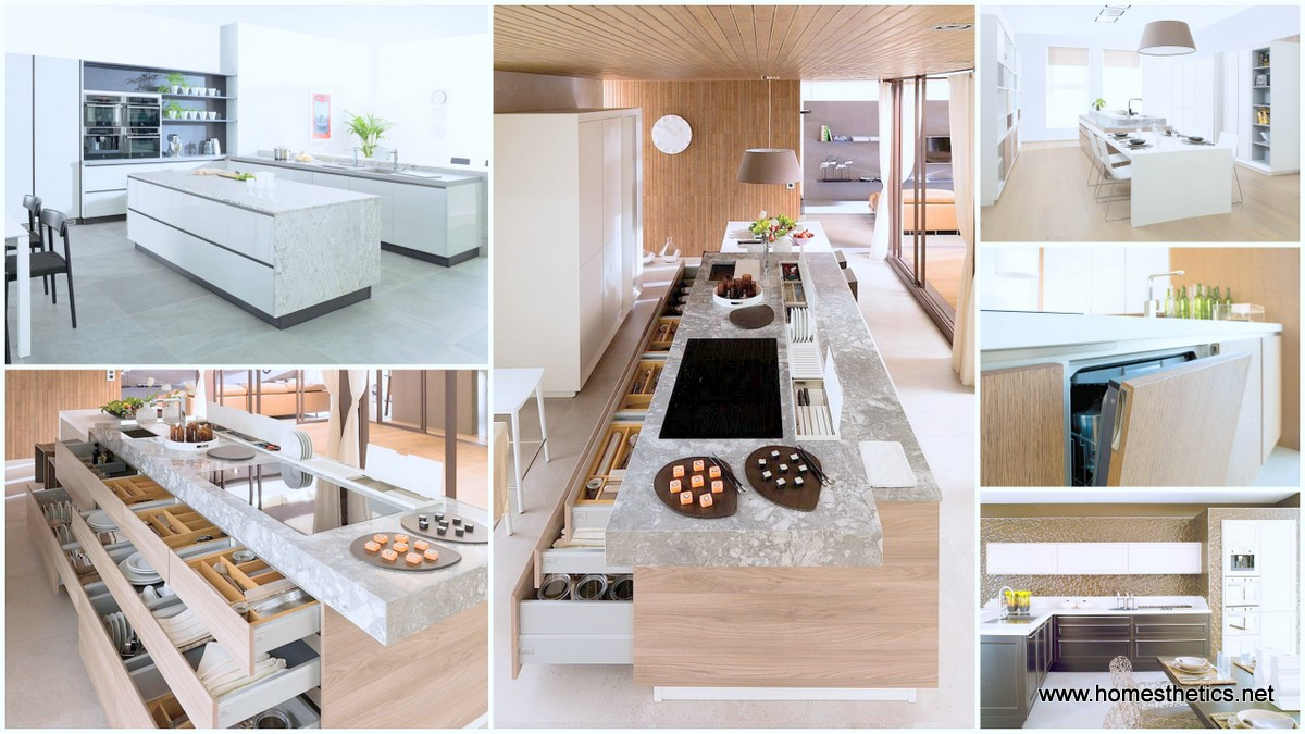 Highly Organized Contemporary Kitchen Design Bending to The Needs Of Each User
