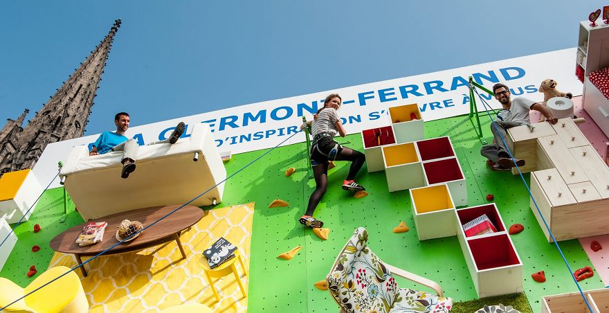 IKEA Invites You to Literally Climb Into Bed on a Vertical Wall in France homesthetics (3)