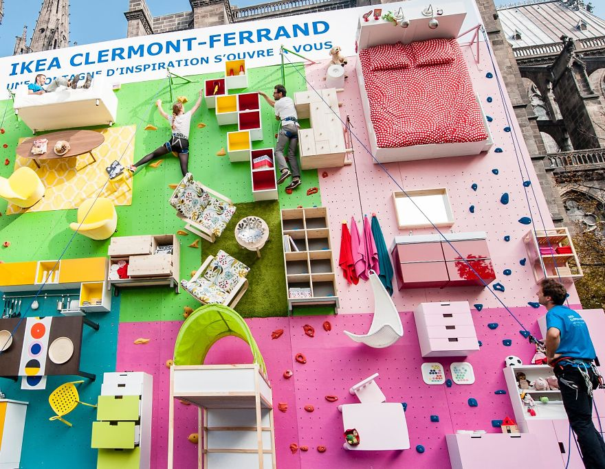 IKEA Invites You to Literally Climb Into Bed on a Vertical Wall in France homesthetics (4)