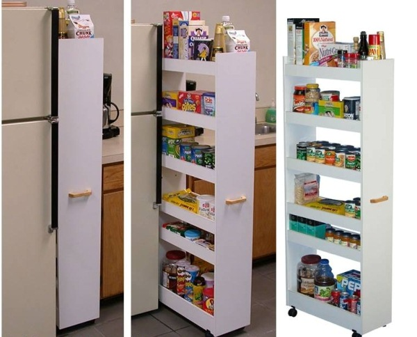 Kitchen Storage Ideas That Will Enhance Your Space-Pull-Out Pantry Cabinet