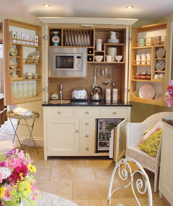 Kitchen Storage Space Saving Ideas- Kitchen In a Cupboard