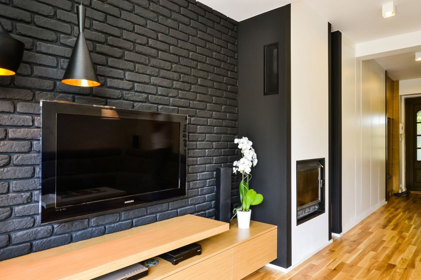 Luxurious Black and White Loft Warmed Through Wood by disenio.interior