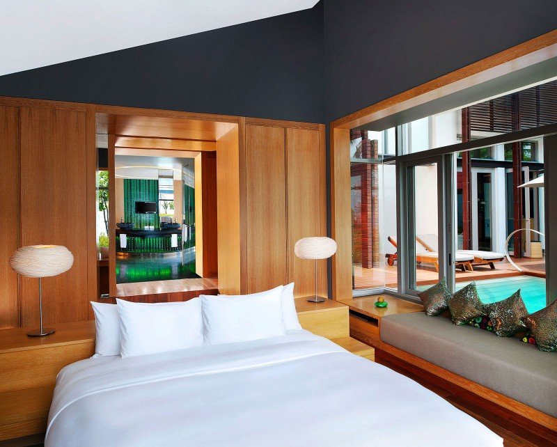 luxurious bedroom desing in the W Koh Samui in Thailand Exuding The Ultimate Level of Sophistication