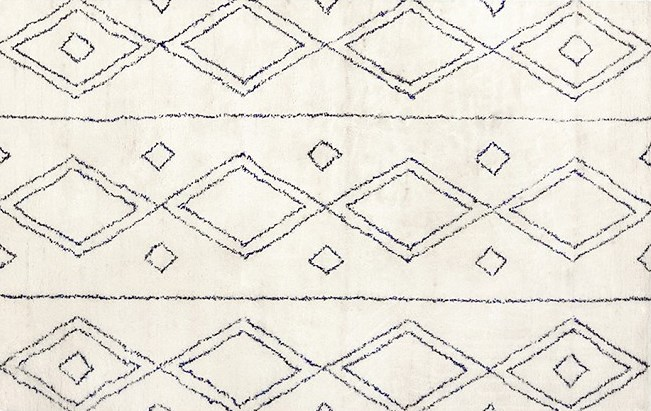 Navy Blue and White Diamond Pattern