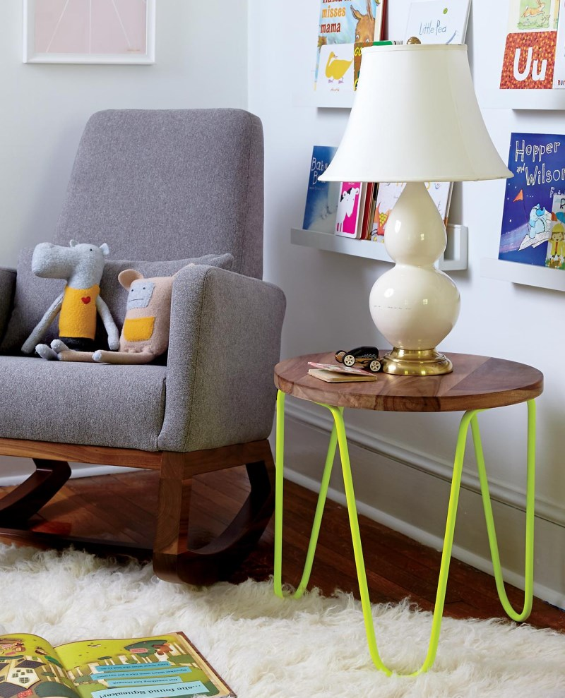 Steel Wearing Neon Glazing and a Metal Tabletop Kids` Furniture