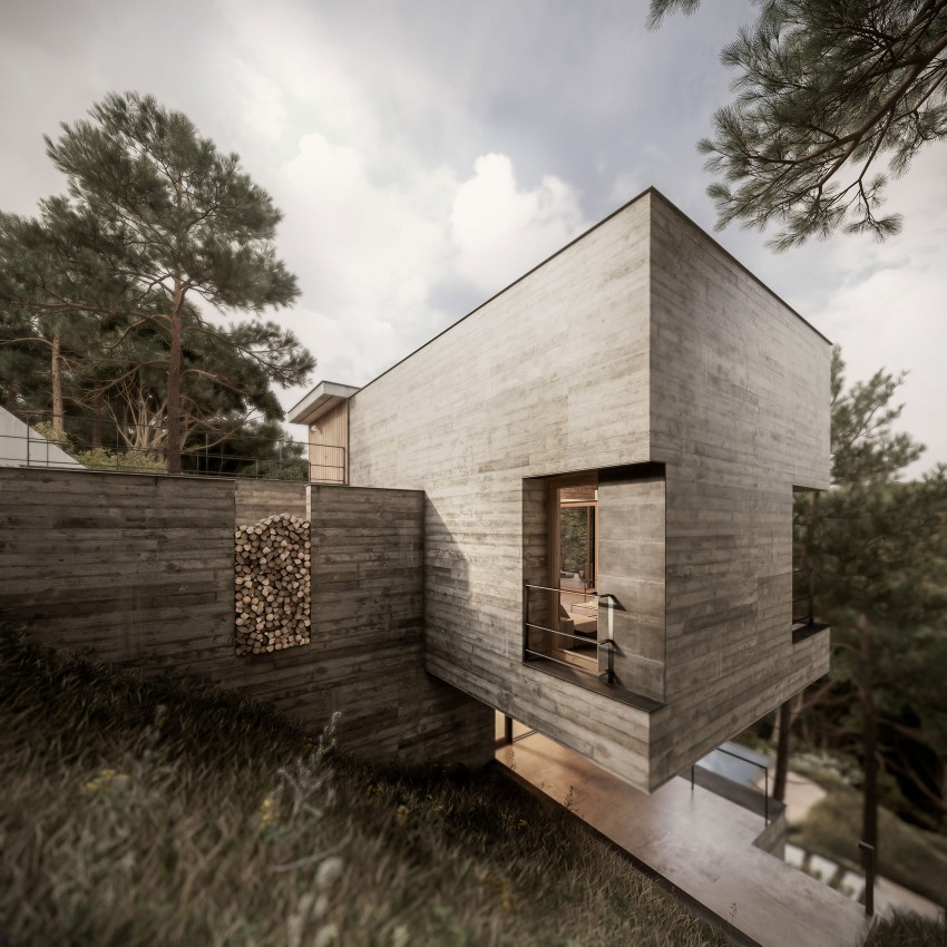 Home Embedded in Vegetation by Design Raum