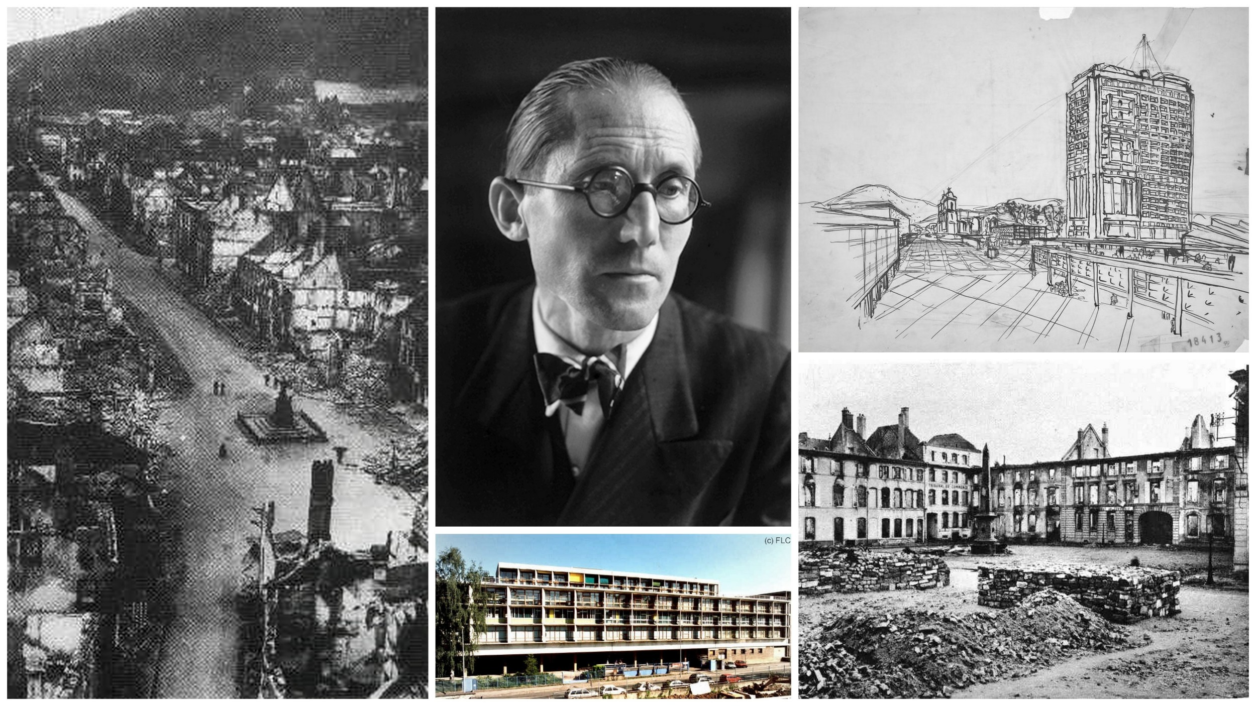 The Struggle of a Visionary-Le Corbusier and Saint-Die-des-Vosges`Utopic Reconstruction Plans