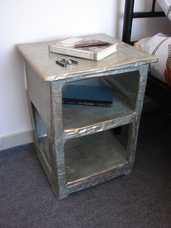 While This Might Not Be The Most Appealing Bed Side Table It Still is a Functional and Inspiring Furnishing- You Can Make it Better!