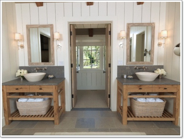 42 ideas that will add coziness and warmth into your rustic bathroom design homesthetics - Rustic Bathroom