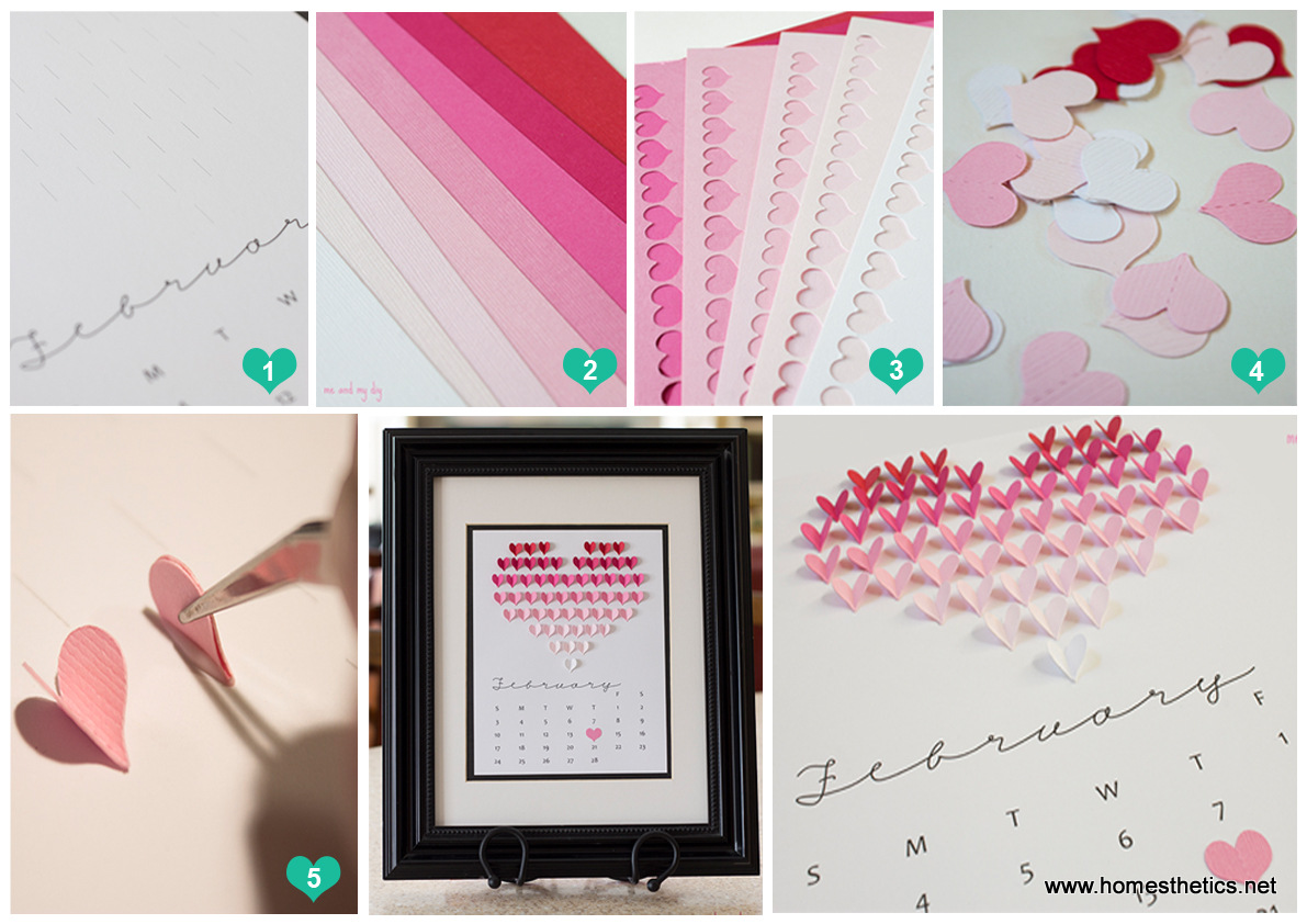 Create This Smart and Beautiful DIY Heart Calendar in 5