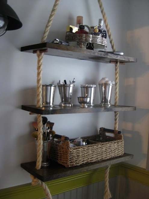 Creative DIY Rope Shelves