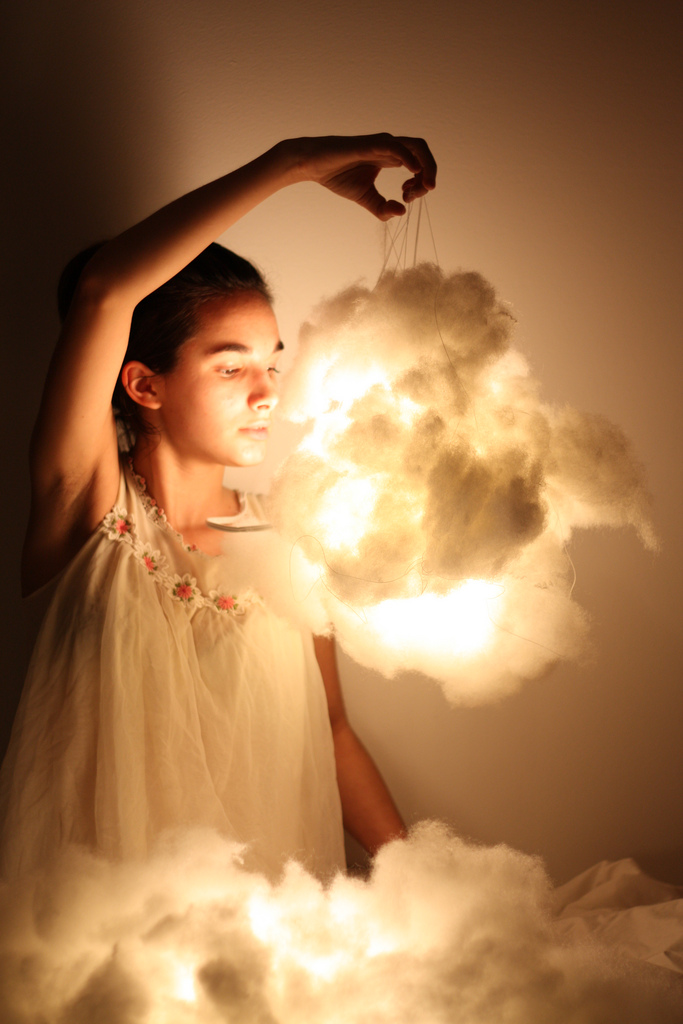 22. Balloons, glue and cotton wool and you've got yourself your own little cloud