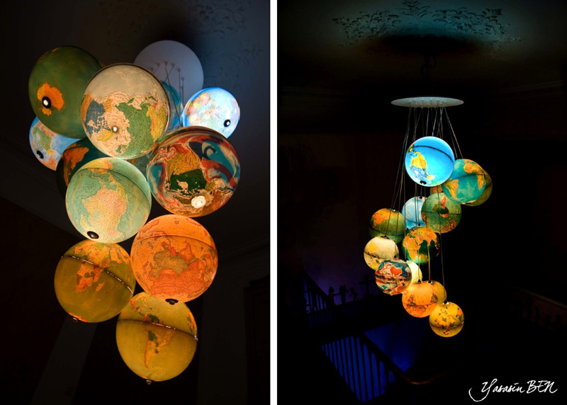 27. Use old world globes for a gorgeoues kid's room chandelier