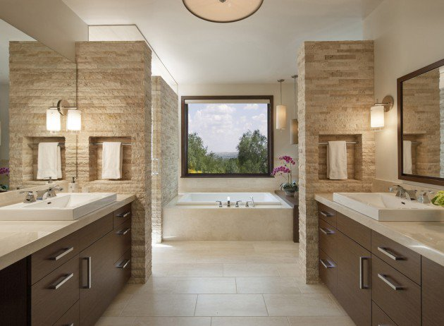 15 Flawless Contemporary Bathroom Designs You Definitely Need To See homesthetics (4)