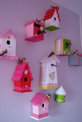 Diy Paper Birdhouses With Template Included Below