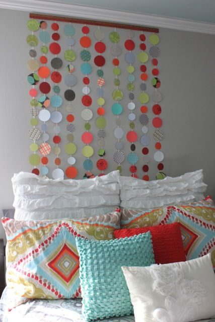 Colorful Bubbles and Textures Above the Bed